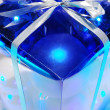 Blue Christmas baubles — Stock Photo #4402696