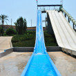 Stock Photo: Waterpark slides
