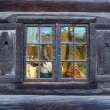 Window of a traditional Norwegian hut — Stock Photo #4745013