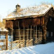Old Norwegian huts - Foto Stock