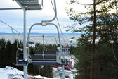 Chairlift at ski resort — Stock Photo