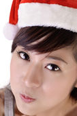 Cute Christmas woman — Stock Photo