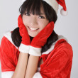 Attractive Christmas girl — Stock Photo