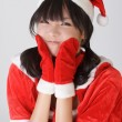 Adorable Christmas girl — Stock Photo