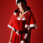Confident Christmas girl — Stock Photo #4036096