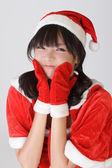 Adorable Christmas girl — Stock Photo