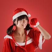 Söt christmas flicka — Stockfoto