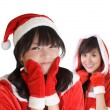 Young Christmas girls — Stock Photo
