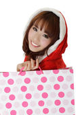 Attractive shopping girl — Stock Photo