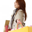 Cheerful shopping woman — Stock Photo #4326297