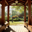 Wooden pavilion — Stock Photo