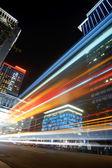 Renkli şehir gece — Stok fotoğraf