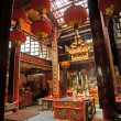 Chinese Buddhism temple interior — Stock Photo #4873642