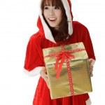Asian Christmas girl — Stock Photo