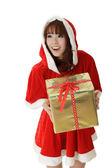 Asiatische weihnachten-mädchen — Stockfoto