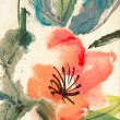 Colorful Chinese painting - Stock Photo
