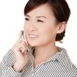 Happy smiling business woman — Stock Photo