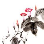 Chinese flower painting — Stock Photo #5167017