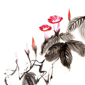 Chinese flower painting — Stock Photo