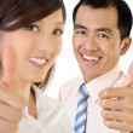 Smile businesspeople — Stock Photo
