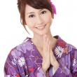 Japaneses woman praying — Stock Photo #5199342
