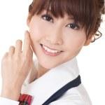 Young school girl — Stock Photo