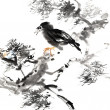 Chinese painting of bird — Foto de Stock