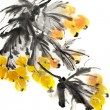 Colorful Chinese painting — Stock Photo