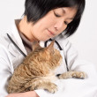 Kindly doctor of pet — Stock Photo