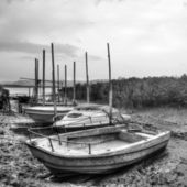 Desolated boats — Stock Photo
