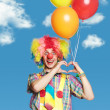 Portrait cheerful clown with the big smile — Stock Photo