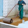 Preparation for a paving - Stock Photo