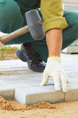 Cobble-stone laying down — Stock Photo