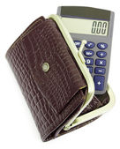 Calculator with zero — Stock Photo