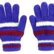 Colored knitted gloves - Stock Photo