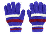 Colored knitted gloves — Stock Photo