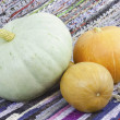 Stock Photo: Three mellow pumpkin