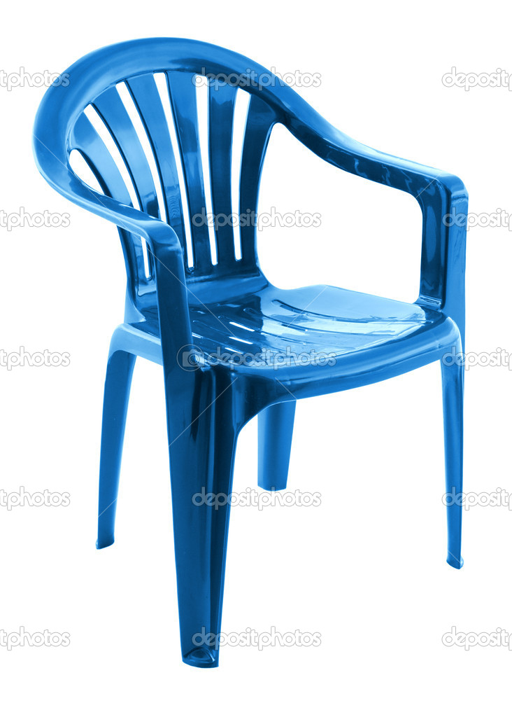 blue plastic chair stock photo sever180 5277537