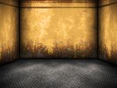 Yellow steel room — Stock Photo