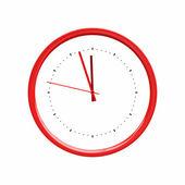 Clock red — Stock Photo