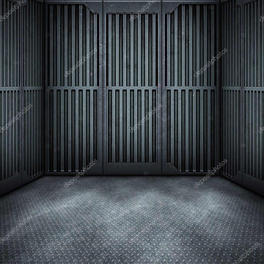 An image of a dark steel room background  Stock Photo #4438701