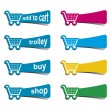 Shopping icons - Stock Photo