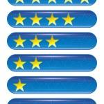 Five star rank — Stock Photo