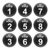 Steps 1 to 9 — Stock Photo