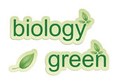 Green biology — Stock Photo