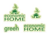 Economic home — Stock Photo