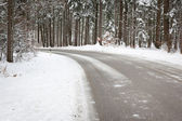 Snowy road — Foto Stock
