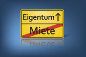 Miete eigentum — Foto de Stock