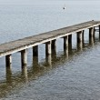 Jetty at Starnberg Lake Bavaria Germany — Stock Photo