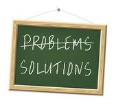 Problemen en oplossingen — Stockfoto